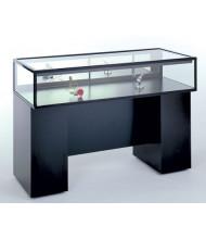 Tecno GL106 Sit Down Display Case - Shown in black laminate with black frame