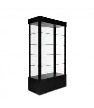 "Tecno GL1 Open Rectangular Tower Display Case 18"" D x 73"" H (in black)"