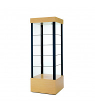 """Tecno GL2 Square Open Tower Display Case 26"""" W x 26"""" D x 73"""" H (in maple)"""
