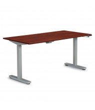 Offices to Go Laminate Top Electric Height Adjustable Table (Shown in Dark Cherry)