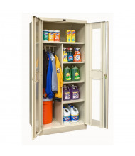 """Hallowell 800 Series 78"""" H Safety-View Combination Storage Cabinets (Shown in Tan)"""