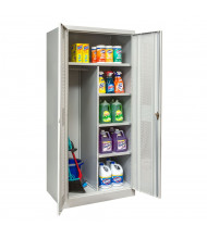 """Hallowell 800 Series 78"""" H Antimicrobial Ventilated Combination Storage Cabinets, Light Grey"""