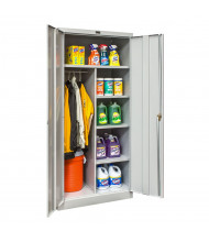 """Hallowell 800 Series 78"""" H Antimicrobial Combination Storage Cabinets, Light Grey"""