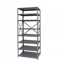 "Hallowell 8-Shelf 87"" H Hi-Tech Medium-Duty Open-Back Shelving Unit, Dark Grey"