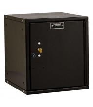 """Hallowell Cubix Modular Box Locker, Unassembled 12"""" (Shown in Black with Key Lock)"""