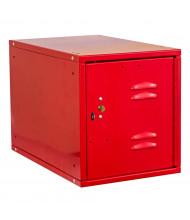"""Hallowell Cubix Louvered Key Lock Modular Box Locker, Unassembled 12"""" W x 18"""" D x 12"""" H, Relay Red"""