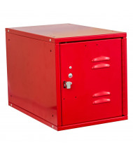 "Hallowell Cubix Louvered Pull Handle Modular Box Locker, Unassembled 12"" W x 18"" D x 12"" H, Relay Red"