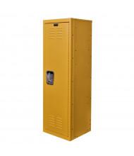 """Hallowell Teen Locker, Unassembled 15"""" W x 15"""" D x 48"""" H (Shown in Yellow)"""