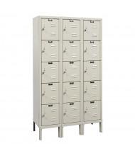 "Hallowell 5-Tier 3-Wide Premium Box Lockers 36"" W x 66"" H (Shown in Tan)"