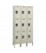 "Hallowell Triple Tier 3-Wide Premium Lockers 78"" H (Shown in Tan)"