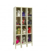 """Hallowell 4-Tier 3-Wide Safety-View Plus Box Lockers 36"""" W x 78"""" H, Tan"""