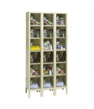 Hallowell 6-Tier 3-Wide Safety-View Plus Box Lockers, Tan