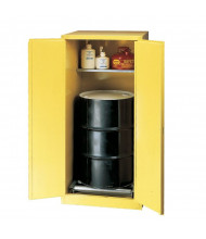 Eagle HAZ2610 Self Close Drum Cabinet - 55-Gallon drum, rollers, and safety cans not included.