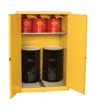 Eagle Self-Closing Hazardous Material Drum Storage Cabinet, 60 Gal
