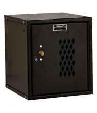 "Hallowell Cubix Ventilated Modular Box Locker, Unassembled 12"" (Shown in Black with Key Lock)"