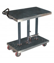 """Vestil Hydraulic Partially Stainless Steel Post Table 2000 lb Load 24"""" X 36"""""""
