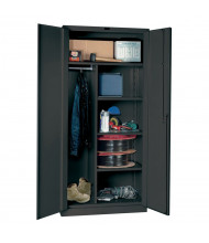 """Hallowell DuraTough Classic Series 24"""" D x 78"""" H Heavy-Duty Combination Storage Cabinets, Assembled, Charcoal"""