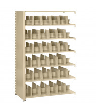 """Tennsco Imperial Double-Sided 24"""" D Open-Back Add-On Shelving Units, Letter"""