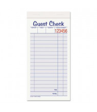 """Adams 3-3/8"""" x 6-7/8"""" 10-Pack Guest Check Set, 50-Forms"""