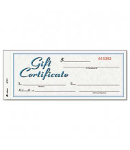 """Adams 8"""" X 3-2/5"""", 24lb, 25-Sheets, White/Canary Gift Certificates with Envelopes"""