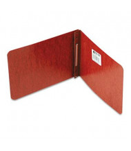 "Acco 2"" Capacity 5-1/2"" x 8-1/2"" Prong Clip Reinforced Hinge Pressboard Report Cover, Red"