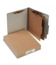 Acco 6-Section Letter Pressboard 25-Point Classification Folders, Mist Gray, 10/Box