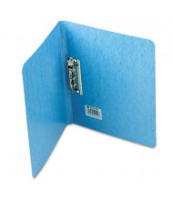 """Acco 5/8"""" Capacity 8-1/2"""" x 11"""" Presstex Grip Punchless Spring-Action Clamp Binder, Light Blue"""