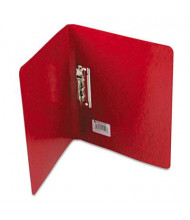 """Acco 5/8"""" Capacity 8-1/2"""" x 11"""" Presstex Grip Punchless Spring-Action Clamp Binder, Red"""