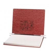"""Acco 14-7/8"""" x 11"""" Unburst Sheet Pressboard Hanging Data Binder, Red"""