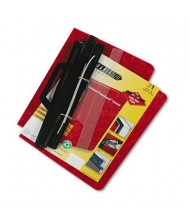 """Acco 8-1/2"""" x 11"""" 3-Hole Pressboard Hanging Expandable Binder, Red"""
