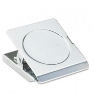 """Acco 1-1/8"""" Capacity Steel Chrome Magnetic Clip"""