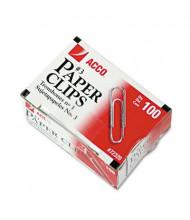Acco No. 3 Steel Wire Silver Smooth Economy Paper Clip, 1000-Paper Clips
