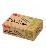 Acco No. 1 Recycled Paper Clips, 1000-Paper Clips