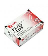 Acco No. 1 Steel Wire Silver Nonskid Economy Paper Clips, 1000-Paper Clips