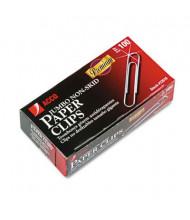 Acco Jumbo Wire Silver Nonskid Premium Paper Clips, 1000-Paper Clips