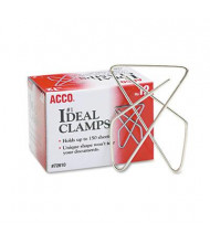 Acco Large Steel Wire Ideal Clamps, 12/Box