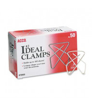 Acco Small Steel Wire Ideal Clamps, 50/Box