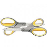 "Westcott Titanium Bonded Scissors, 8"" Length, 2-Pack, Yellow/Gray"