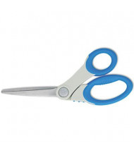 """Westcott Scissors with Antimicrobial Protection, 8"""" Length, Bent, Blue/Gray"""
