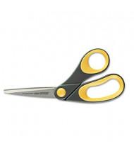 "Westcott Non-Stick Titanium Bonded Scissors, 8"" Length, Bent, Yellow"