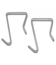 Alera 1-Garment Single Sided Partition Hook, 2-Pack, Silver