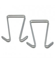 Alera 2-Garment Double Sided Partition Hook, 2-Pack, Silver