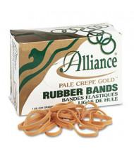 """Alliance 3-1/2"""" x 1/4"""" Size #64 Pale Crepe Gold Rubber Bands, 1 lb. Box"""