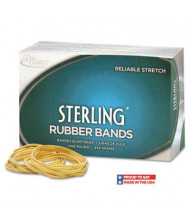"Alliance 7/8"" x 1/16"" Size #8 Sterling Ergonomically Correct Rubber Bands, 1 lb. Box"