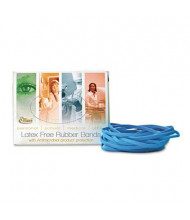 """Alliance 3-1/2"""" x 1/8"""" Size #33 Antimicrobial Non-Latex Cyan Blue Rubber Bands, 1/4 lb. Box"""