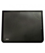 "Artistic 19"" x 24"" Logo Pad Desktop Organizer with Clear Overlay, Black"