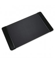 """Artistic 36"""" x 20"""" Executive Desk Pad with Leather-Like Side Panels, Black"""