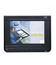 "Artistic 17"" x 22"" Logo Pad Desktop Organizer with Clear Overlay, Black"