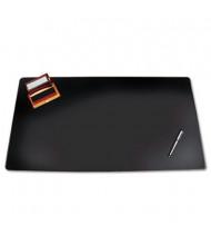 "Artistic 19"" x 24"" Sagamore Desk Pad with Decorative Stitching, Black"
