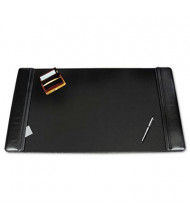 "Artistic 24"" x 38"" Sagamore Desk Pad with Flip-Open Side Panels, Black"